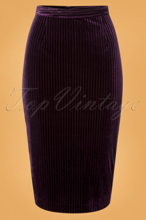 Banned Vera Velvet Skirt in Purple 26214 20180718 0003W
