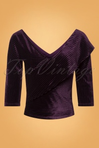 Banned Victoria Velvet Top in Purple 26512 20180718 0001W