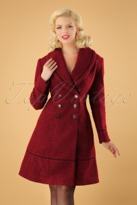 40s Laura Coat in Red