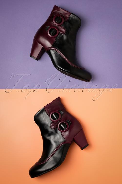 La Veintineuve 27482 Black Red Ankle Boots 20181203 013W