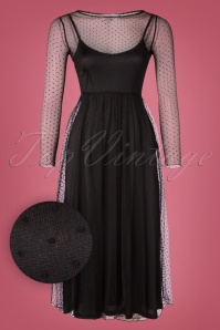 50s Talia Tule Dress in Black