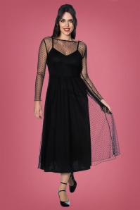 Banned Retro 26215 Black Lace Swing Dress 20181217 009
