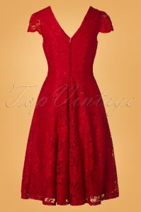 Jolie Moi 29029 50s Jolie Red Lace Dress 20181218 005W