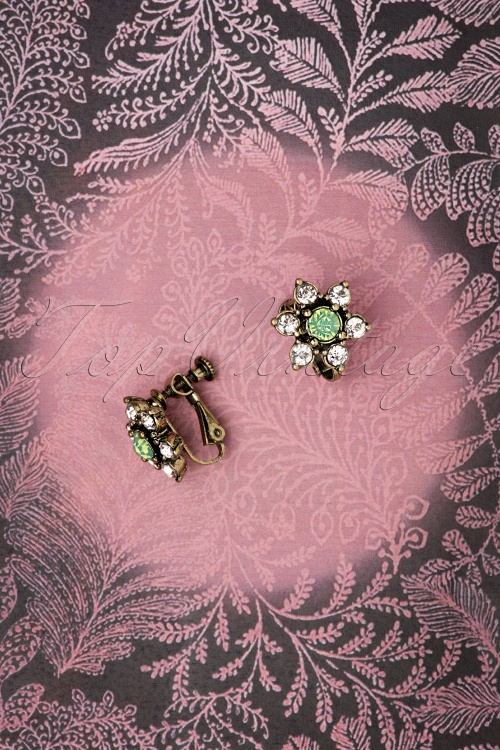 Lovely 28939 Flower Clip Earrings 20181220 005W