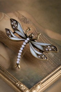 Lovely 20s How To Train Your Dragonfly Brooch in Heavenly Blue