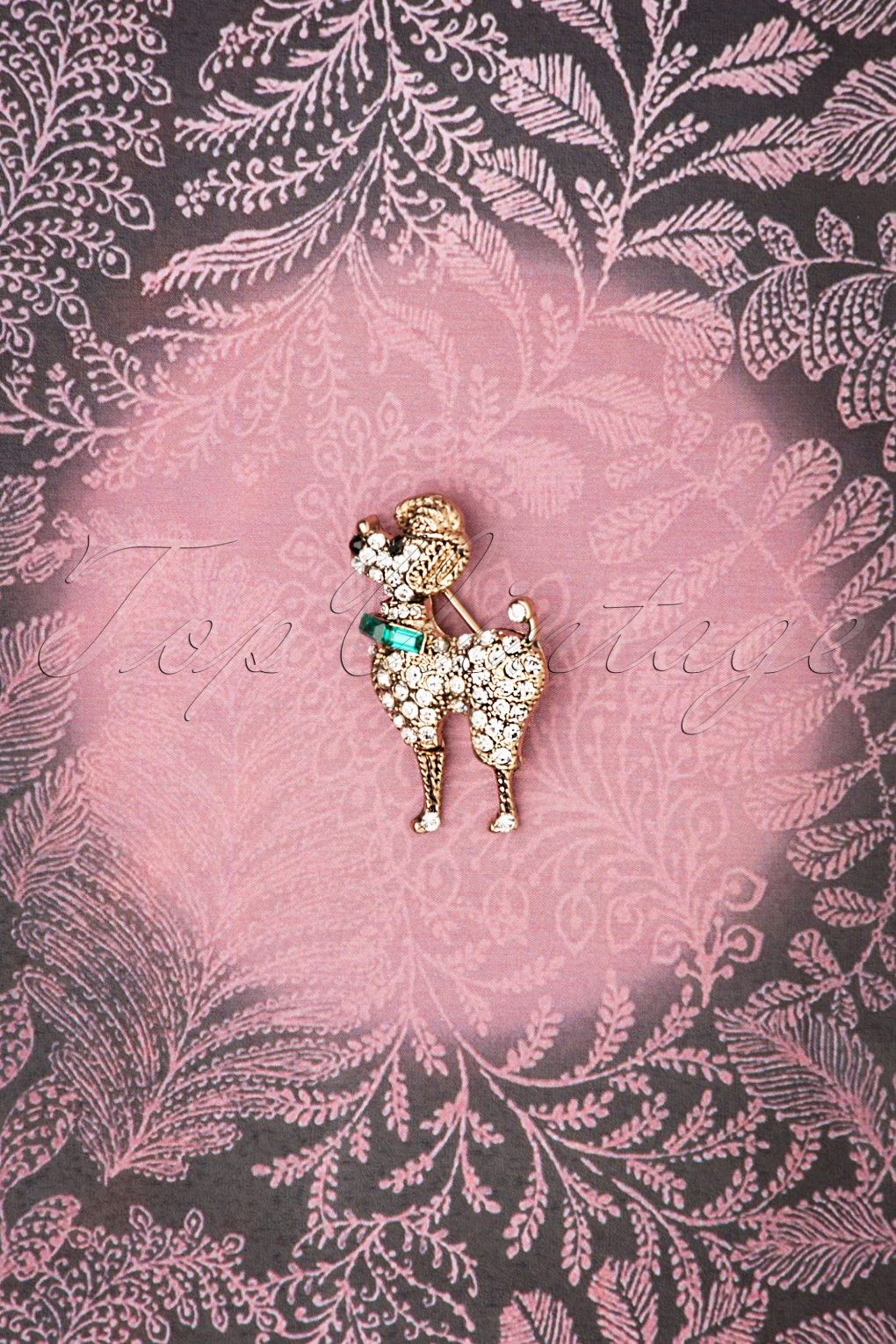 50s Jewelry: Earrings, Necklace, Brooch, Bracelet 50s Small Poodle Brooch in Gold £15.65 AT vintagedancer.com