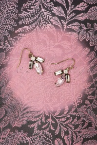 Navette Teardrop Earrings Années 50 en Rose