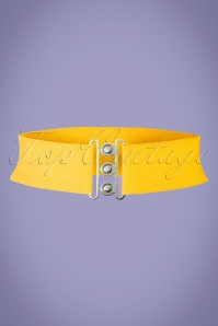 Banned Retro 50s Lauren Vintage Stretch Belt in Yellow