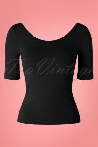 King Louie 50s Ballerina Top in Black