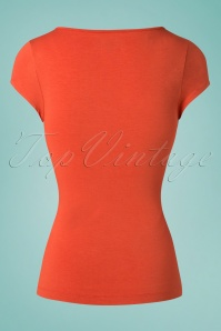 King Louie 27166 Ginger Orange Waterfall Top Viscose Lycra 20181115 005W