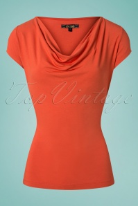 King Louie 27166 Ginger Orange Waterfall Top Viscose Lycra 20181115 002W