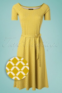 60s Selma Venus Dress in Curry Yellow