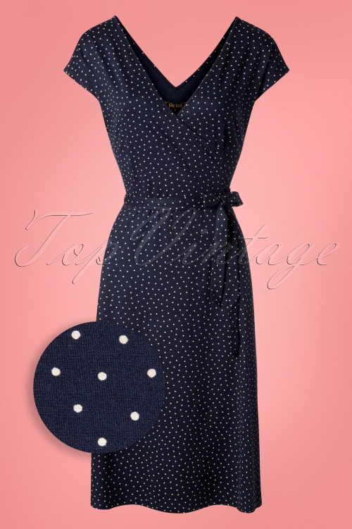 King Louie 27137 nuit Blue Mira Dress Little Dots 20181121 006W1