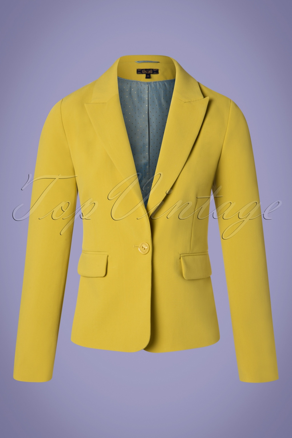 1960s Style Dresses, Clothing, Shoes UK 60s Daisy Tribeca Blazer in Cress Yellow £114.69 AT vintagedancer.com