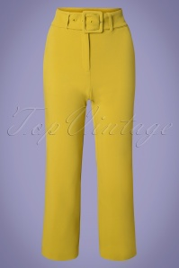 60s Jenny Tribeca Pants in Cress Yellow