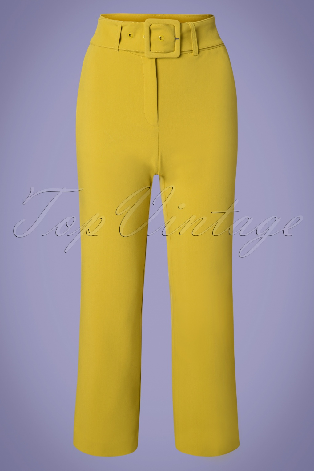 1960s Style Dresses, Clothing, Shoes UK 60s Jenny Tribeca Pants in Cress Yellow £83.80 AT vintagedancer.com