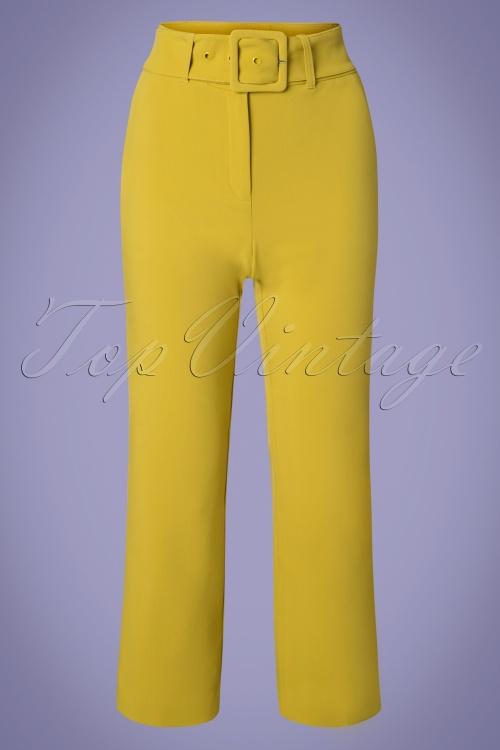 King Louie 27158 Cress yellow Jenny Pants Tribeca 20181123 002W