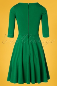 Unique Vintage 27679 Green Knit Dress 20190107 0006W