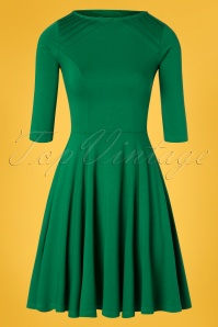 Unique Vintage 27679 Green Knit Dress 20190107 0003W