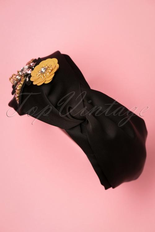 Darling Divine 28969 headband Black Flower Butterfly 20190107 010W