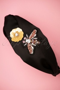Darling Divine 28969 headband Black Flower Butterfly 20190107 008W