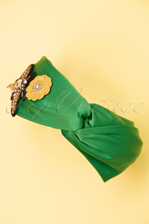 Darling Divine 28970 headband Green Flower Butterfly 20190107 013W