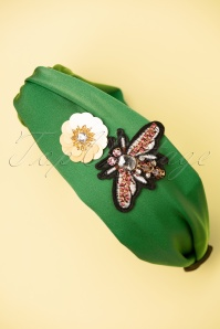 Darling Divine 28970 headband Green Flower Butterfly 20190107 008W