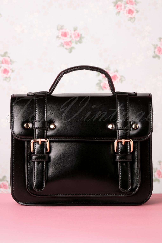 Vintage Handbags, Purses, Bags *New* 50s Galatee Messenger Bag in Black £24.95 AT vintagedancer.com