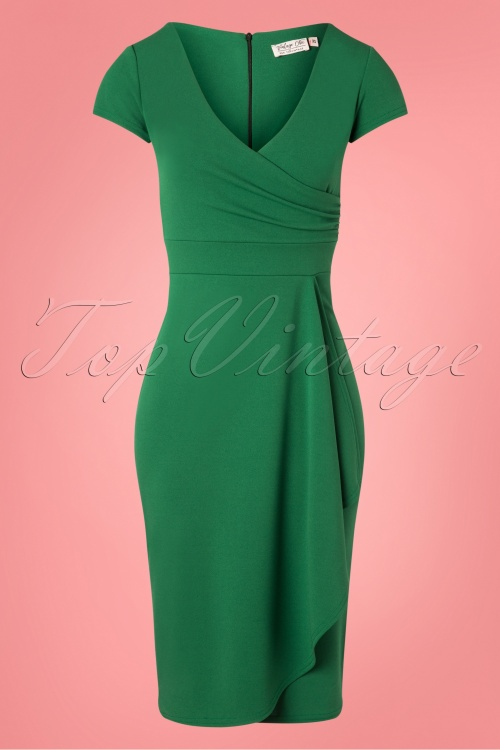 Vintage Chic 28728 50s Crystal Emerald Green Dress 20190108 002W