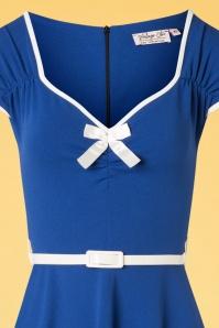 Vintage Chic 28727 50s Cindy Royal Blue Dress 20190108 003B