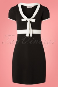 Vintage Chic for TopVintage 60s Terri A-Line Dress in Black and Ivory