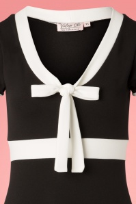 Vintage Chic 28726 Black and White Bow Dress 20190108 002B