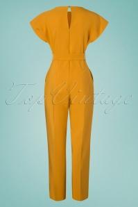Closet 29030 Mustard Short Sleeve Kimono Jumpsuit 20190110 011W