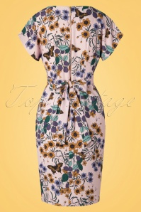 Closet 29037 Floral Tulip Dress With Shaped Waistband 20190110 008W