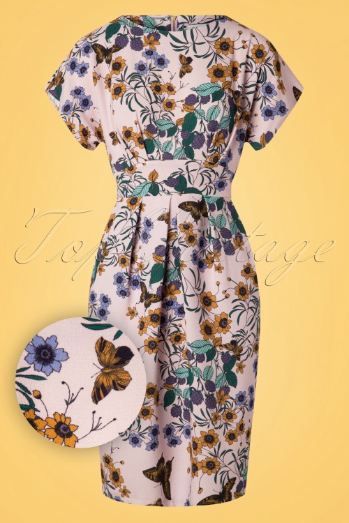 Closet 29037 Floral Tulip Dress With Shaped Waistband 20190110 002W1
