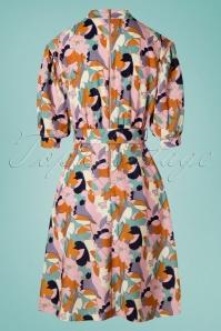 Closet 29035 Pink Floral Puff Sleeve Dress 20190110 008W