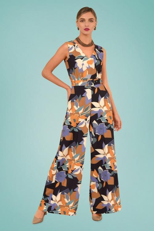 Closet 29031 Geometric Floral Wide Leg Jumpsuit 20190110 010