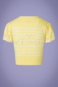 Banned 28471 Sailor Stripe Tie Top Yellow 20181219 005W