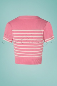 Banned 28470 Sailor Stripe Tie Top Pink 20181213 05W