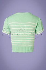 Banned 28469 Sailor Stripe Tie Top Mint 20181219 20W