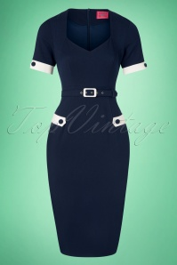 Glamour Bunny 27579 Doris Navy Dress 20190104 0003W
