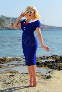 Glamour Bunny Audrey Dress in Royal Blue 23851 20180108 2