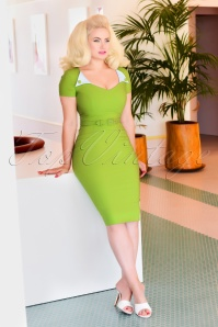 50s Jane Pencil Dress in Green