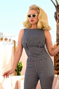 50s Donna Capri Suit Top in Gingham