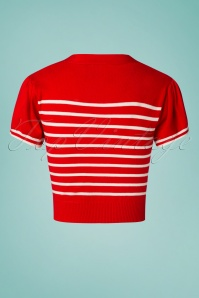 Banned 28468 Sailor Stripe Tie Top Red 20181219 014W1