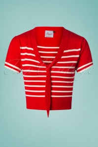 Banned 28468 Sailor Stripe Tie Top Red 20181219 011W2