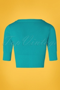 Banned 28559 50s Overload Cardigan in Teal Blue 20181213 007W