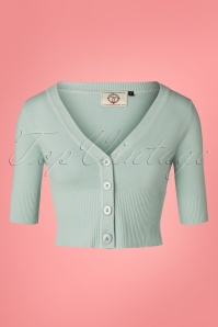 50s Overload Cardigan in Duck Egg