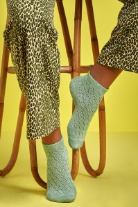 60s Brocato Socks in Pastel Green