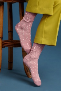 60s Bling Socks in Mellow Rose